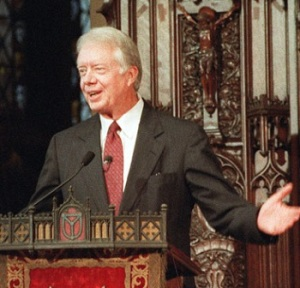 President Carter:  Forgot his Bible in the nightstand at the Whitehouse; Thinks he remembers it saying God is okay with gay marriage.