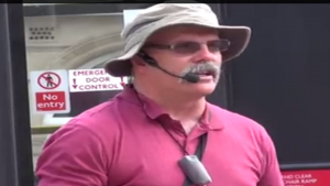 Tony Miano:  Arrested in England for publicly preaching that homosexuality is a sin.